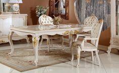 Konsol ve vitrinin taç ve saçak kısımlarındaki el oymaları yemek odası takımına farklı bir hava kazandırıyor. http://www.asortie.com/yemek-odasi-215-Elif-Klasik-Yemek-Odasi
