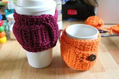 Awesome Coffee Mug Cozy FREE pattern | StormFly Crafts | Adjustable for basic coffee cups and tall handle less cups