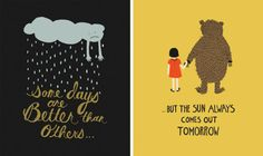 Better Days... by Rifle Paper #rifle paper #illustration #for kids #bear #rainy