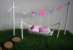 Fairy Washing Line & Stepping Stones Fairy Garden Accessories Fairy Dresses Wing