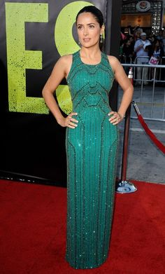 Salma Hayek in Gucci Premiere at the LA premiere for Savages on June 25, 2012.