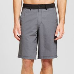 Men's Gray Textured Hybrid Shorts - Mossimo Supply Co. Gray