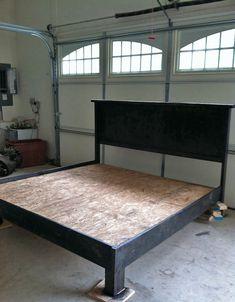 Hervorragend Hausgemachte King Size Bett Rahmen   Homemade King Size Bett Rahmen. Bett