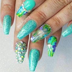 Nueva tendencia en nails arts, las uñas acuario son furor – Aquariums nails | Decoración de Uñas - Manicura y Nail Art