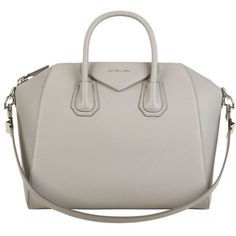 Givenchy Medium Grained Antigona Tote (2,915 CAD) ❤ liked on Polyvore featuring bags, handbags, tote bags, white purse, givenchy tote, structured handbag, white handbags and white tote