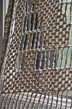 vintage Berkeley Knot macrame curtain panel by mamaleanne22