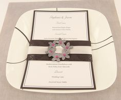 premo! Embellished Wedding Menu
