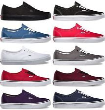 3d634b47256f Vans Authentic Era Classic Real Sneakers Canvas Mens Women Off The Wall  Laces