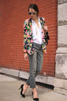 #Pilcro #Hyphen #Chino #Botanic #Blazer #Anthropologie  Image via: The Fox and She