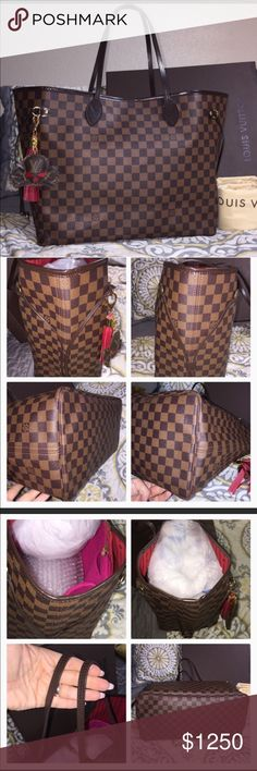 LV Neverfull GM Damier I have a like new LV Neverfull GM Damier. No flaws. 100% authentic. Date code SD0132. Comes with dust bag only. Open to equal value trades. Specifically looking for Yeti cooler bag, MK/Tory Burch bags that can be used as diaper bags/cross body bags. Black hunter boots. (Size 8) Feel free to message me😊 If trading, you will ship first. Louis Vuitton Bags Shoulder Bags