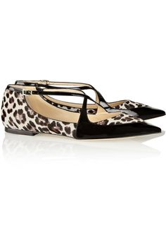 Shop on-sale Jimmy Choo Gamble patent-trimmed calf hair point-toe flats. Browse other discount designer Flat Shoes & more on The Most Fashionable Fashion Outlet, THE OUTNET.COM