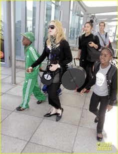 Madonna Lands in London with David & Mercy