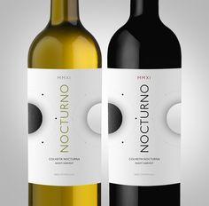 Nocturno Wines - Night Harvest by Miguel Batista, via Behance Wine Label Design, Wine Bottle Art, Wine Brands, Wine Night, Wine Labels, Package Design, Wines, Harvest, Branding Design