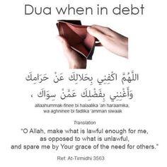 Dua for debt