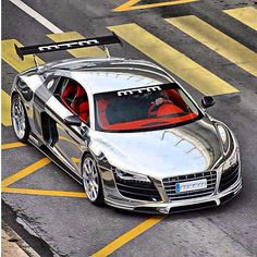 shiny shiny! chrome R8 with vibrant red interior! i know i like it! what do you think?