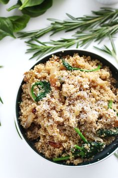 Caramelized Onion and Parmesan Quinoa