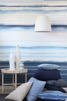 By Nord pillows featured in SOFFA magazine 4, knits and denim pillows By Nord kuddar, stickat och denim