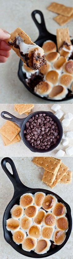 Who said s'mores could only be made outdoors? Follow this easy recipe to make the best s'mores without the help of a campfire. #Smores #Recipes