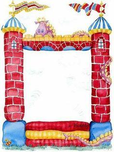 BORDES Y MARCOS - Tita K - Álbumes web de Picasa Cute Clipart, Frame Clipart, Borders For Paper, Borders And Frames, Boarder Designs, Book And Frame, Photo Frame Design, Birthday Frames, Page Borders