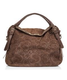 I would SO carry this bag FOREVER!! - Love this Fango Swirl Leather Hobo on #zulily! #zulilyfinds