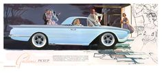 """A fake ad for a 1960 Ford Galaxie """"pickup""""."""