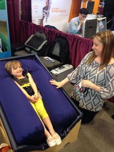 "Meet the ""Sensory Lounger"", it's a new device developed by Kansas businessman, Stuart Jackson, as a sensory therapy method that squeezes or ""hugs"" its users and calms them. The chair was first specifically designed for Jackson's own son, Joshua, who has severe Autism and has proven the chair to be very effective. It essentially comforts Continue Reading …"