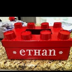 Ethan's Valentine's box; cut Dixie cups then hot glue on box and spray paint!