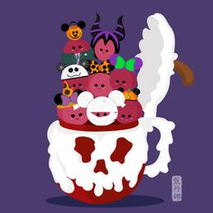 Disney Food Halloween Art