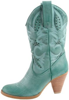Volatile Women's Denver Boot - high heeled and teal!