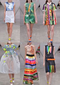London Womenswear Print Highlights Spring/Summer 2015 catwalks Fyodor Golan S/S 15 Catwalk Fashion, Fashion Show, Fashion Design, Fashion Forecasting, Quirky Fashion, 2015 Trends, Fashion Project, Casual Chic Style, Spring Summer 2015