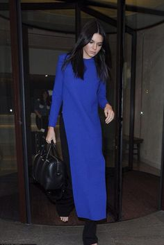 Kendall Jenner wearing Givenchy Lucrezia Bag, Gianvito Rossi Portofino Sandals and Solace London Lin Top in Ultramarine