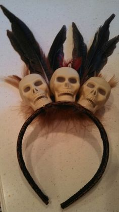 Halloween voodoo priestess head piece