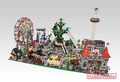 LEGO 'Amusement Park' Diorama | Flickr - Photo Sharing!