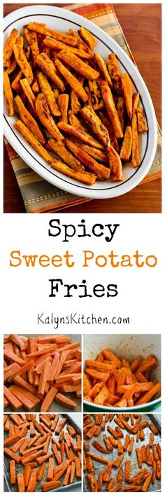 These Spicy Sweet Potato Fries are deliciously vegan for Meatless Monday! And sweet potato fries are also gluten-free, Paleo, Dairy-Free, an. Healthy Side Dishes, Vegetable Side Dishes, Vegetable Recipes, Whole 30 Recipes, Side Dish Recipes, Dinner Recipes, Spicy Sweet Potato Fries, Potato Fry, Vegetarian Recipes