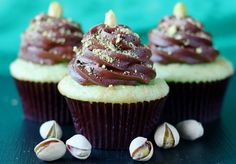 Chocolate Pistachio Cupcakes from Your Cup of Cake