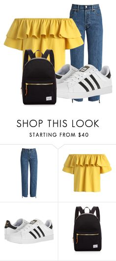 """Untitled #172"" by vega-skouboe-lindberg on Polyvore featuring Vetements, Chicwish, adidas and Herschel Supply Co."