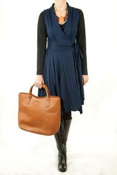 Mesop clothing online Light Wool Label Wrap Dress - Womens Knee Length Dresses - Birdsnest Online Shop
