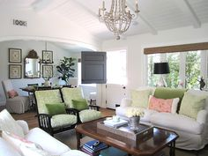 California House Tour - filled with punches of color and details like the dutch door and chandelier