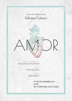 Poster #Amor / Design: Pablo Caro