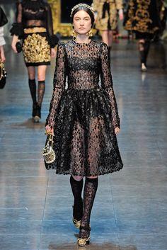 Dolce & Gabbana Fall 2012 Ready-to-Wear Fashion Show - Jacquelyn Jablonski