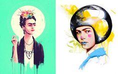 GAUNTLET GALLERY: THANK GOD IT'S FRIDA! http://www.widewalls.ch/gauntlet-gallery-thank-god-its-frida-group-tribute-show-frida-kahlo-2015/ #tribute #FridaKahlo #GauntletGallery  #contemporary #art #urbanart #exhibition #MarieBergeron #Lie