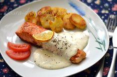 Z mojej kuchyne i fotoaparátu ...: Losos s citrónovou omáčkou Fish And Meat, Meat Recipes, Sausage, French Toast, Food And Drink, Eggs, Breakfast, Fit, Party