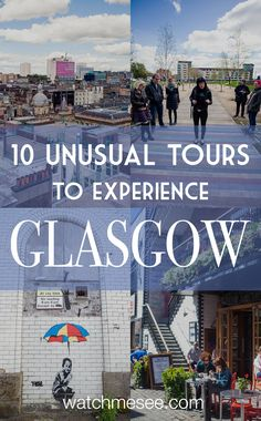 10 of the best Glasgow tours (that are better than any guidebook!) Want to experience Glasgow without a guide book? This is a guide to some of the most unusual Glasgow tours – 10 unique ways to experience the city! Scotland Travel Guide, Scotland Vacation, Scotland Tours, Scotland Trip, Whiskey Tour, Voyage Europe, England And Scotland, Roadtrip, British Isles