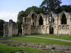 The Abbey of St Mary is a ruined Benedictine abbey in York, England. Once the richest abbey in the north of England, it lies in what are now the Yorkshire Museum Gardens, on a steeply sloping site to the west of York Minster.