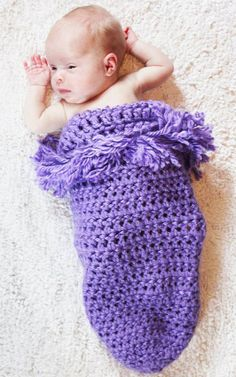 Totally purple Cozy 'N Snug Baby Bag for by CraftedwithHandandHe, $30.00