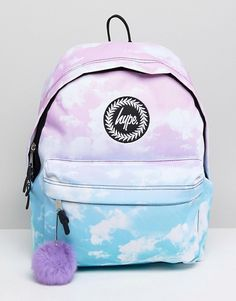 Buy Hype Backpack in Contrast Cloud Print at ASOS. With free delivery and return options (Ts&Cs apply), online shopping has never been so easy. Get the latest trends with ASOS now. Backpack For Teens, Small Backpack, Mini Backpack, Mini Bag, Backpack Bags, Bags For Teens, School Bags For Girls, Girls Bags, Cute Backpacks