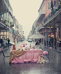 Gorgeous! Carla Ten Eyck Photography dinner, tea time, new orleans, teas, parties, french quarter, pink, place, rain