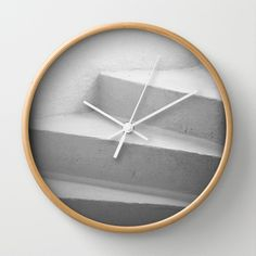 White Stairs Wall Clock by Claude Gariepy - $30.00