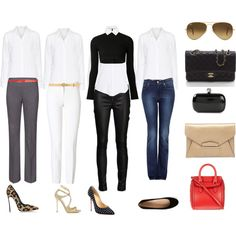 White shirt outfits 8/12/2014