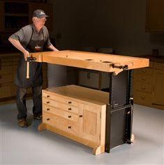 Adjustable Workbench - The Woodworker's Shop - American Woodworker